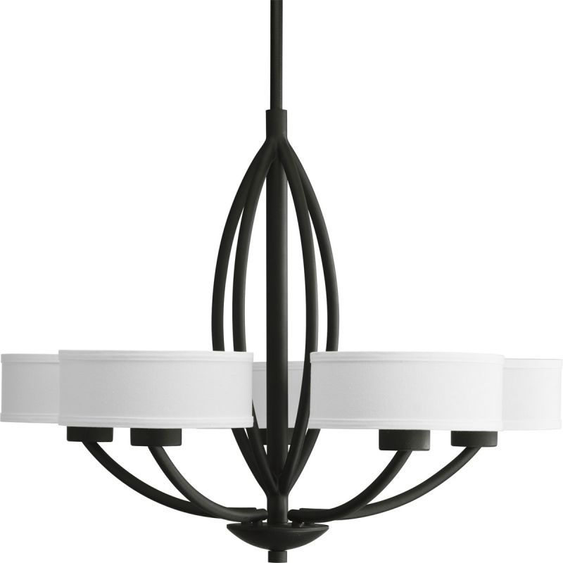 Progress Lighting P4539 Calven Five-Light Single-Tier Chandelier with