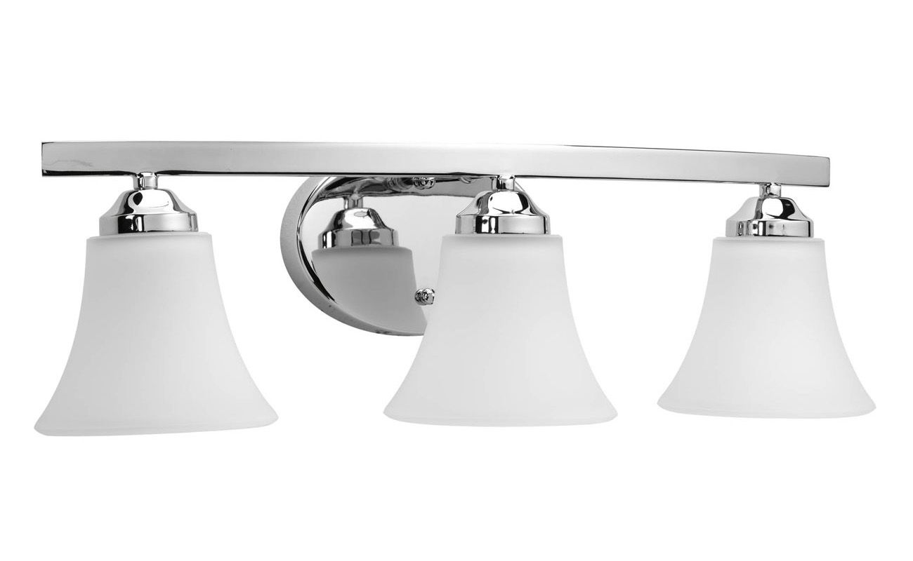 Progress Lighting P2010 15 Chrome Adorn Three Light Bathroom Vanity Light L