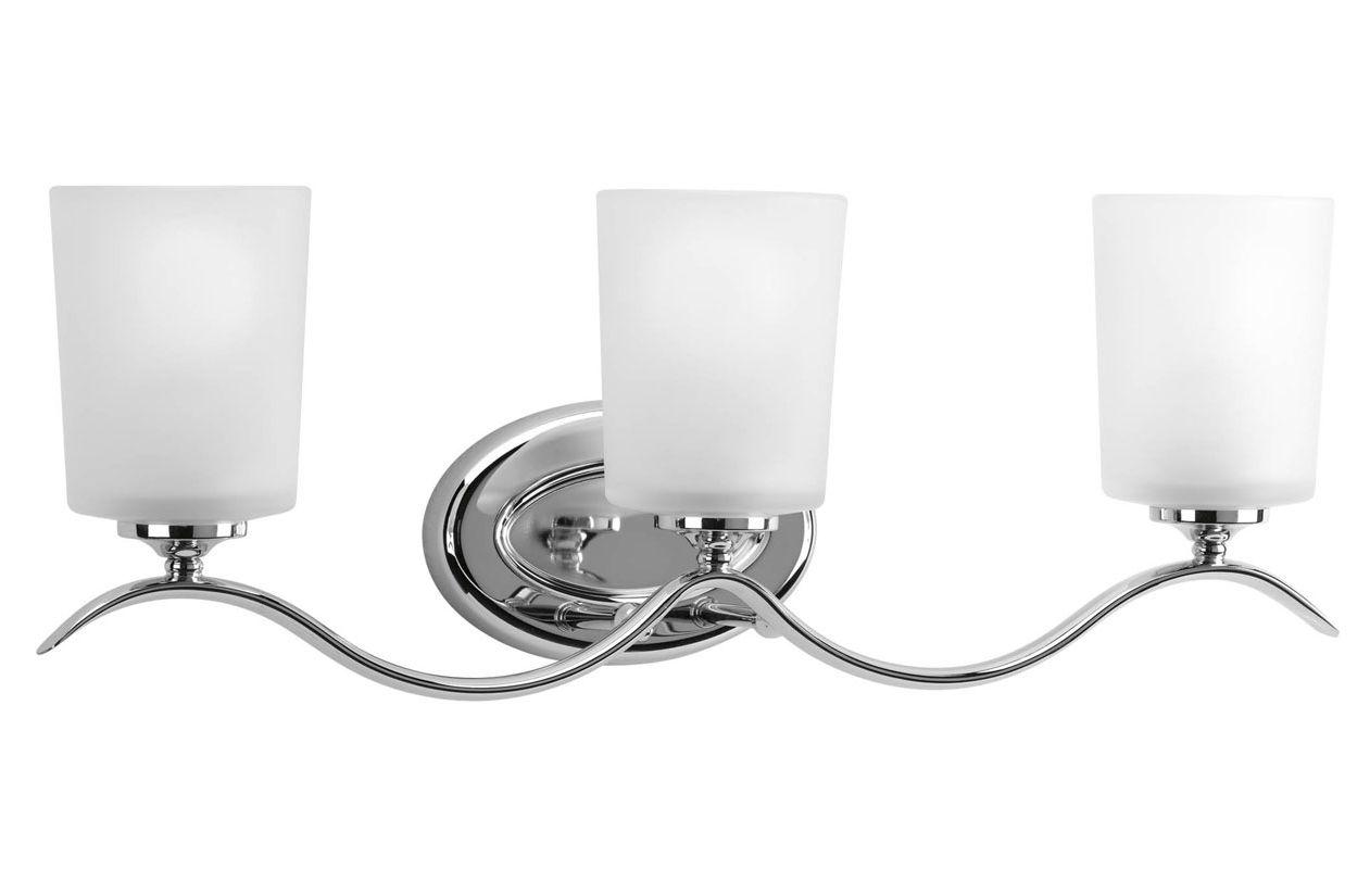 Shop Progress Lighting 3 Light Archie Chrome Bathroom: Progress Lighting P2020-15 Chrome Inspire Three Light
