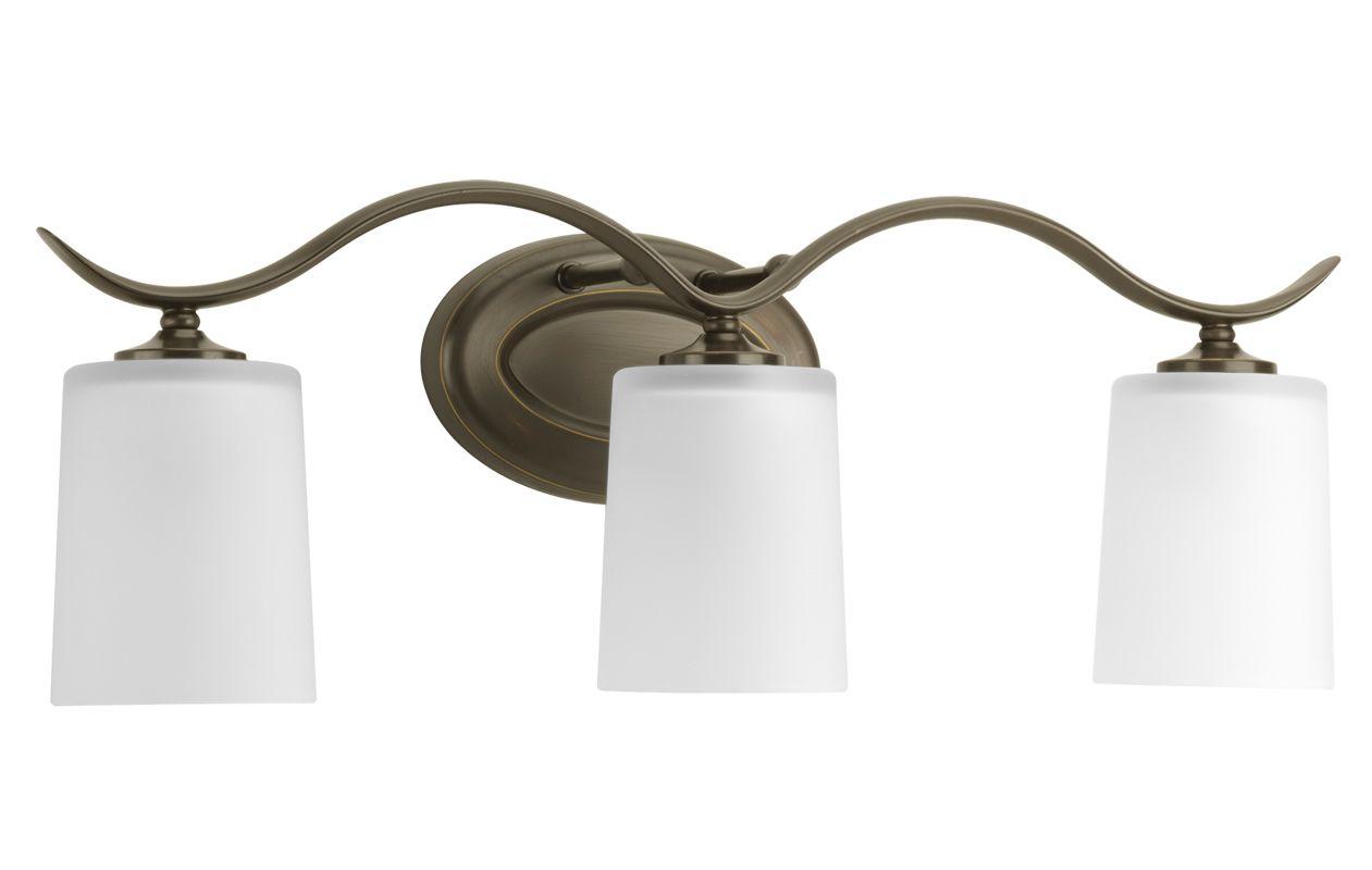 Shop Progress Lighting 3 Light Archie Chrome Bathroom: Progress Lighting P2020-20 Antique Bronze Inspire Three