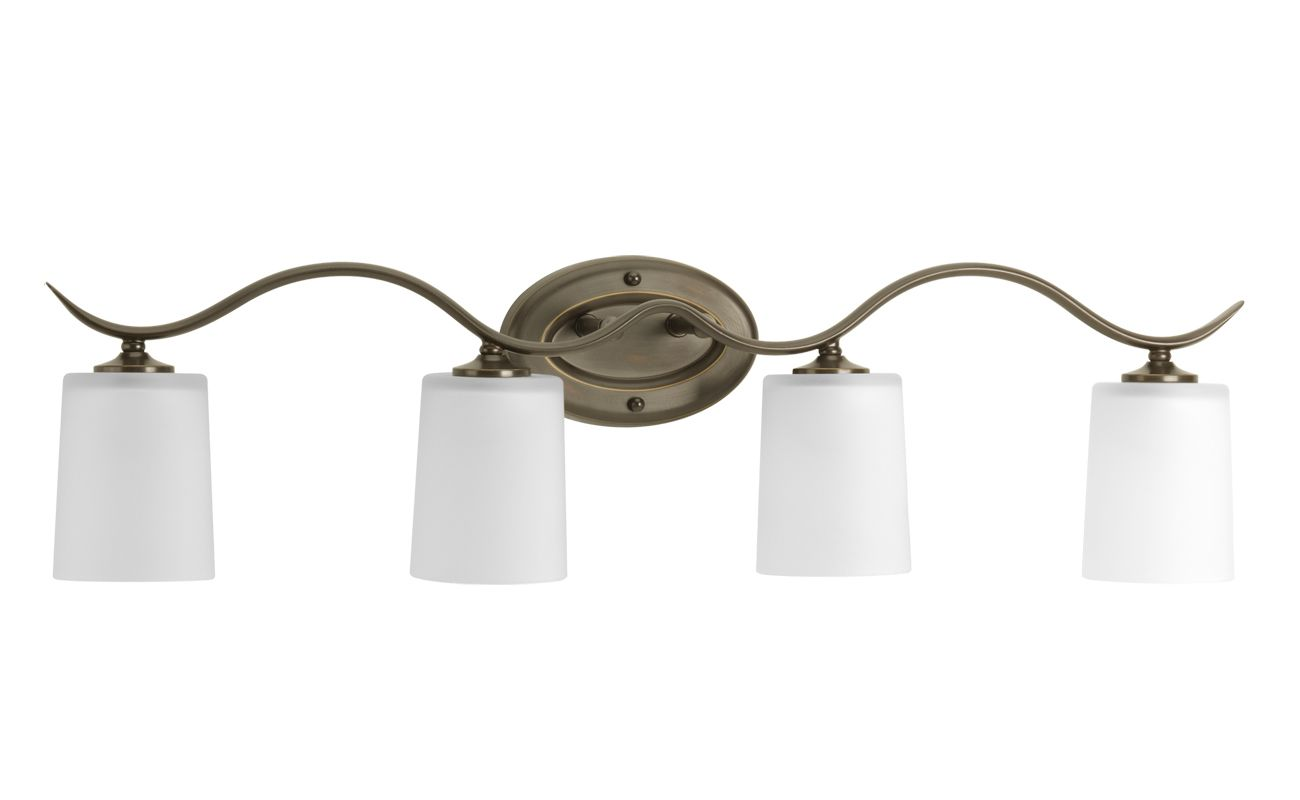 Progress Lighting Lucky Collection 4 Light Brushed Nickel: Progress Lighting P2021-09 Brushed Nickel Inspire Four