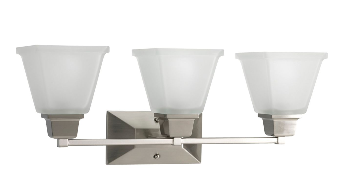 Progress Lighting Lucky Collection 4 Light Brushed Nickel: Progress Lighting P2743-09 Brushed Nickel North Park Three