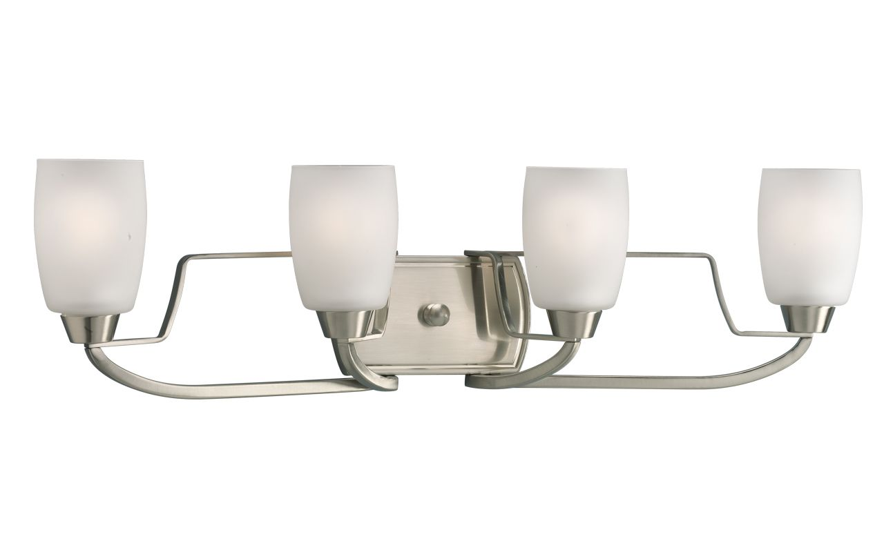 Progress Lighting Lucky Collection 4 Light Brushed Nickel: Progress Lighting P2797-09 Brushed Nickel Wisten Four