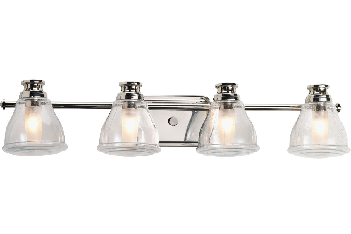 Chrome Bath Lighting Fixtures: Progress Lighting P2813-15WB Polished Chrome Academy Four