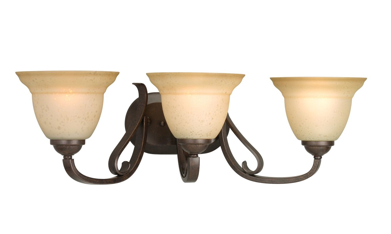 Progress Lighting P2883 Torino Three-Light Bathroom Fixture with Tea