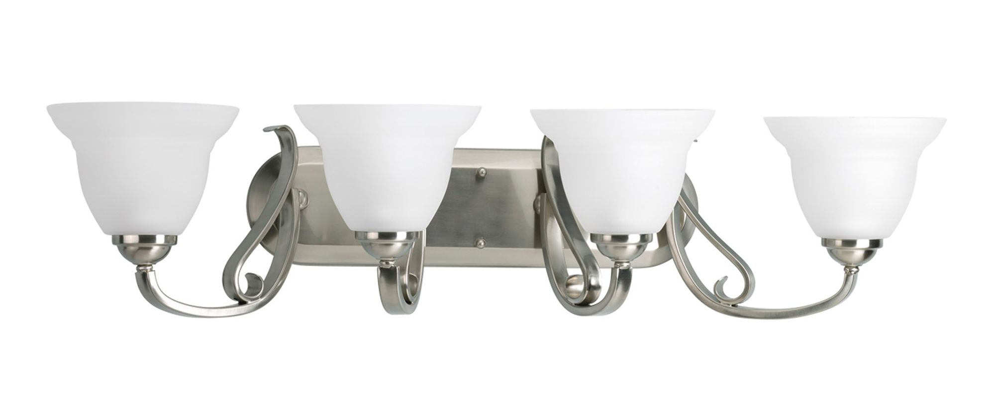 Progress Lighting Lucky Collection 4 Light Brushed Nickel: Progress Lighting P2884-09 Brushed Nickel Torino Four