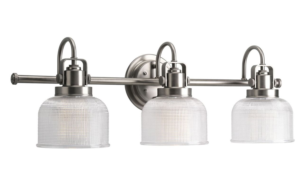 Progress Lighting P2992-81 Nickel Industrial Archie Bathroom Light