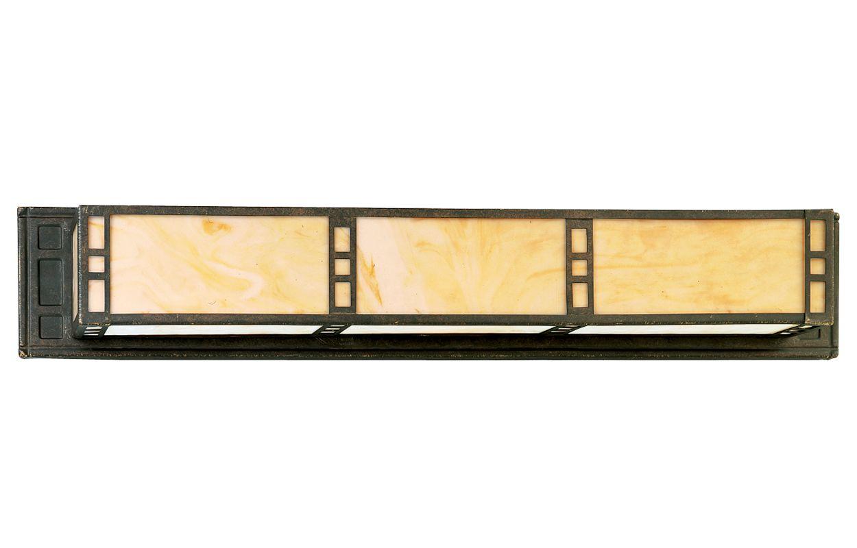 Progress lighting p3003 46 weathered bronze arts crafts - Chapter 3 light bar bathroom light ...