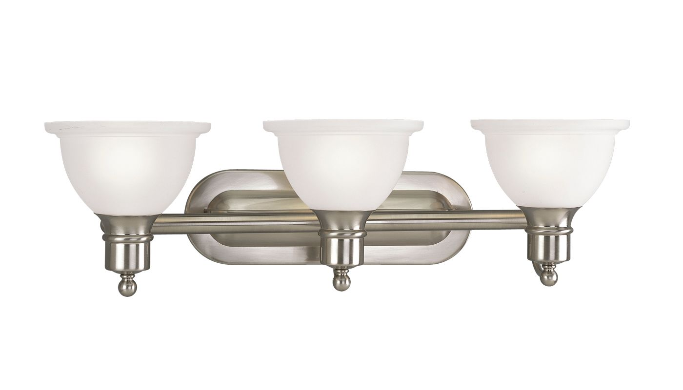 Progress Lighting Lucky Collection 4 Light Brushed Nickel: Progress Lighting P3163-09 Brushed Nickel Madison Three