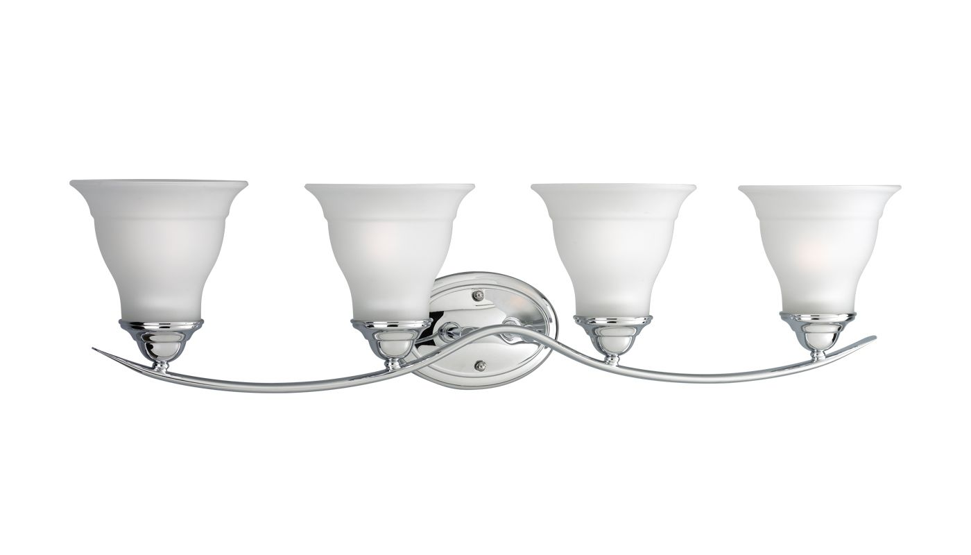 Progress Lighting P3193 Trinity 4 Light Bathroom Vanity Light with