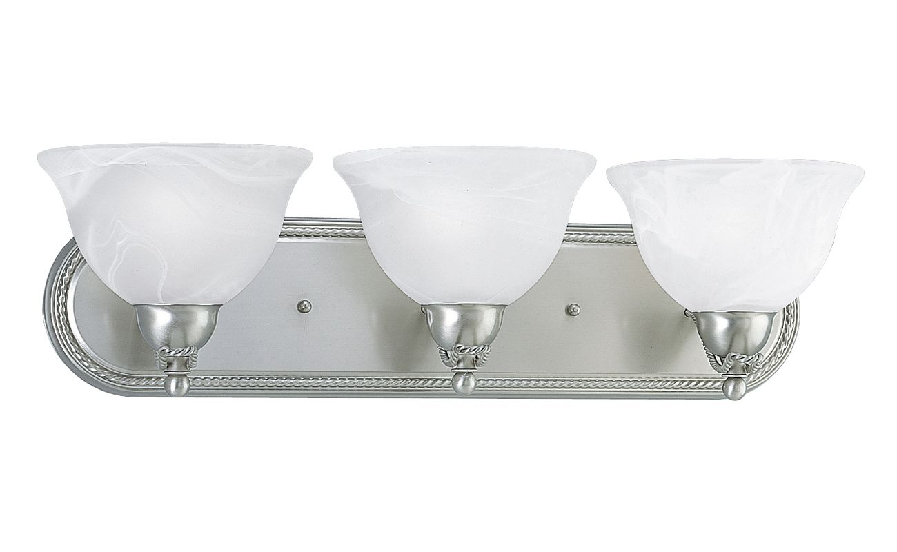 Progress Lighting P3268 Avalon Three Light Bathroom Vanity Strip