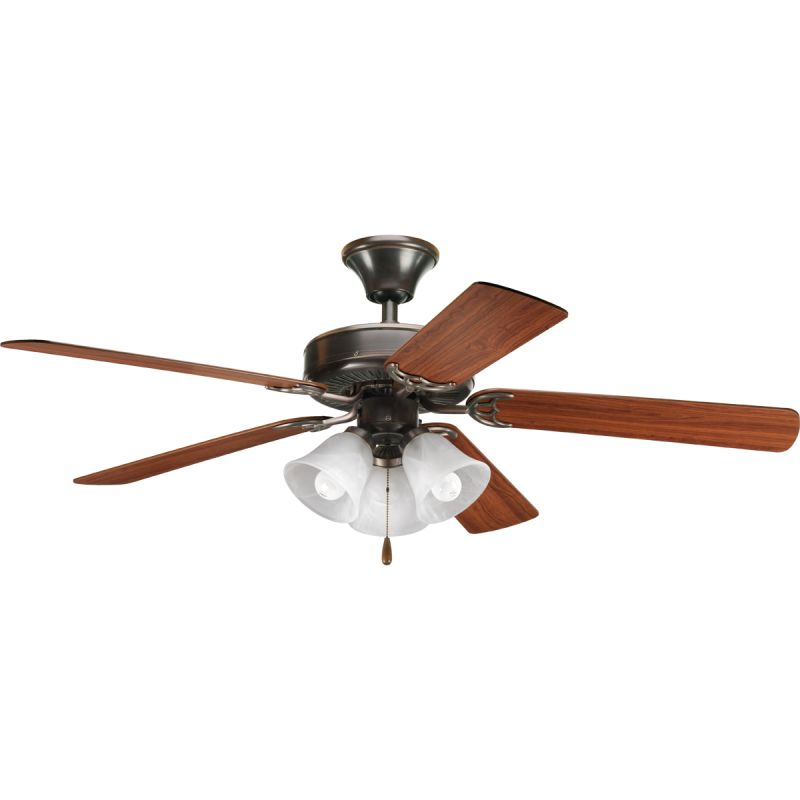 "Progress Lighting Builder 52 F2 Builder 52"" 5 Blade Ceiling Fan -"