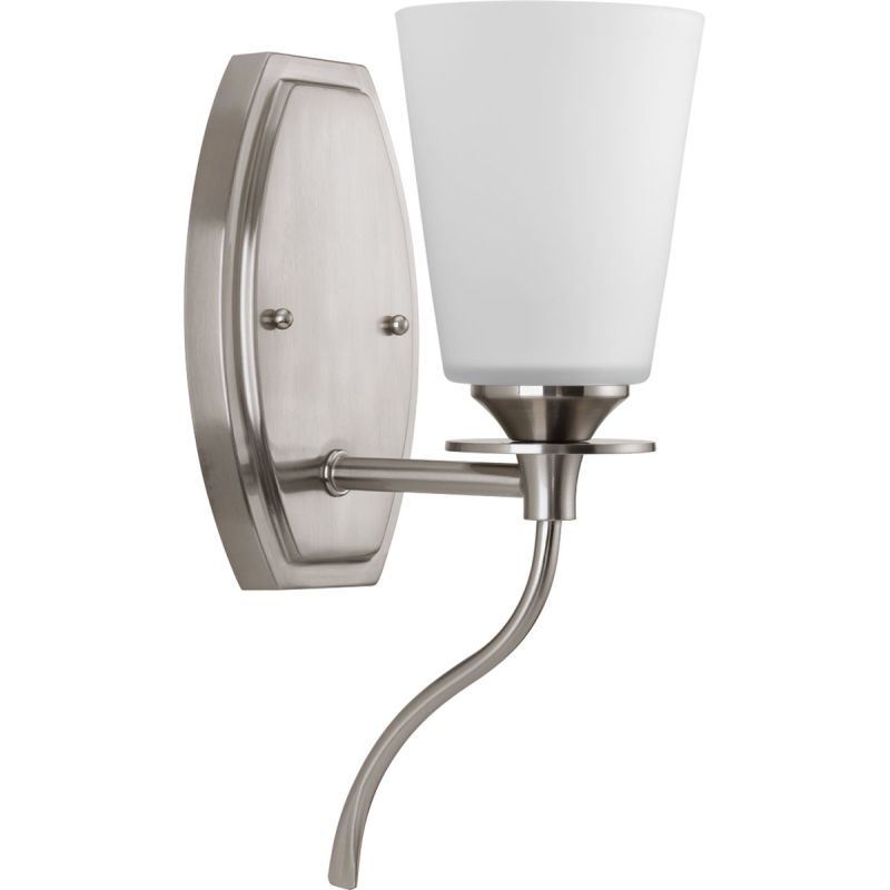 "Progress Lighting P3216 Cantata 1 Light 4.75""W Bathroom Sconce Brushed"