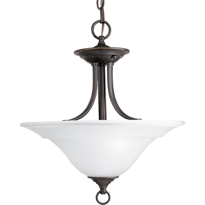 Progress Lighting P3473 Trinity 2 Light Bowl Pendant with Etched Glass