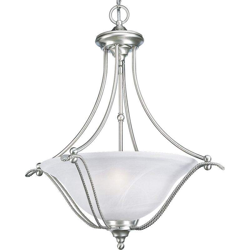 Progress Lighting P3773 Avalon 3 Light Bowl Pendant with Alabaster
