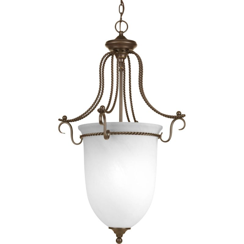 Progress Lighting P3785 Avalon 3 Light Urn Pendant with Alabaster