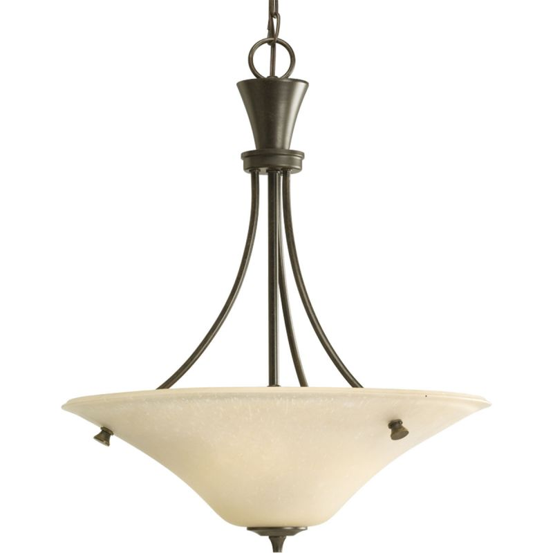 Progress Lighting P3814 Cantata 3 Light Bowl Pendant with Etched Glass