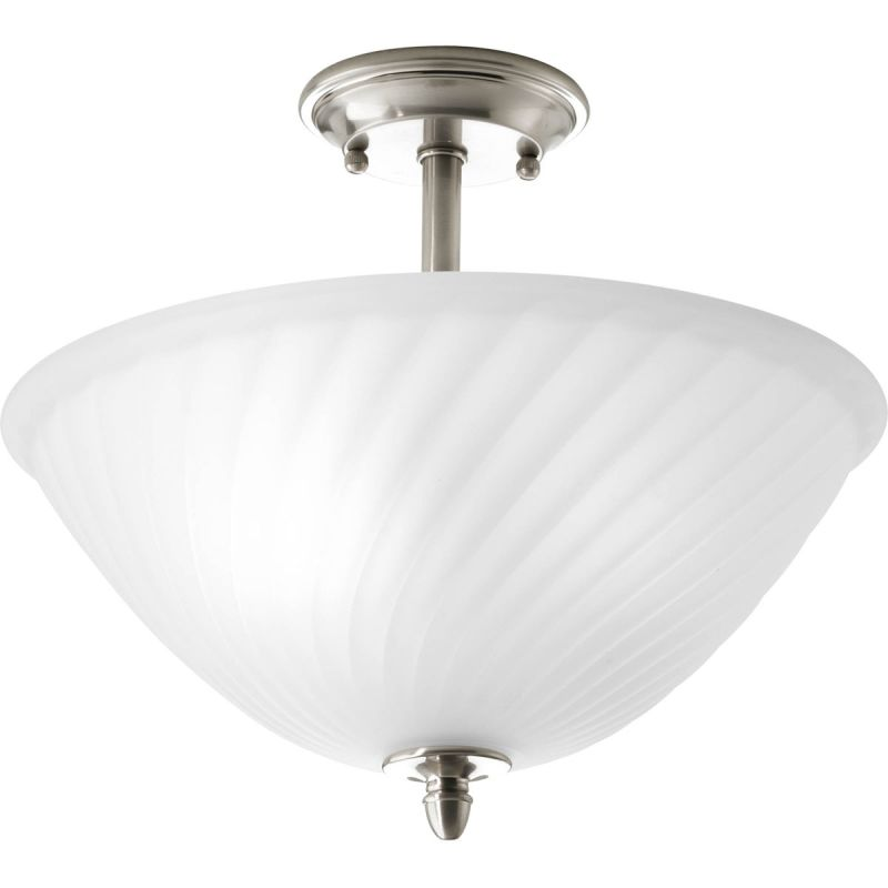 "Progress Lighting P3829 Kensington 14"" Two Light Semi-Flush Mount"
