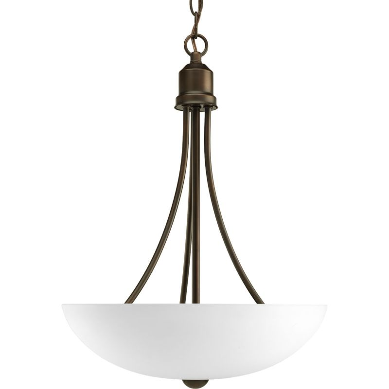Progress Lighting P3914 Gather 2 Light Pendant with Etched Glass Shade