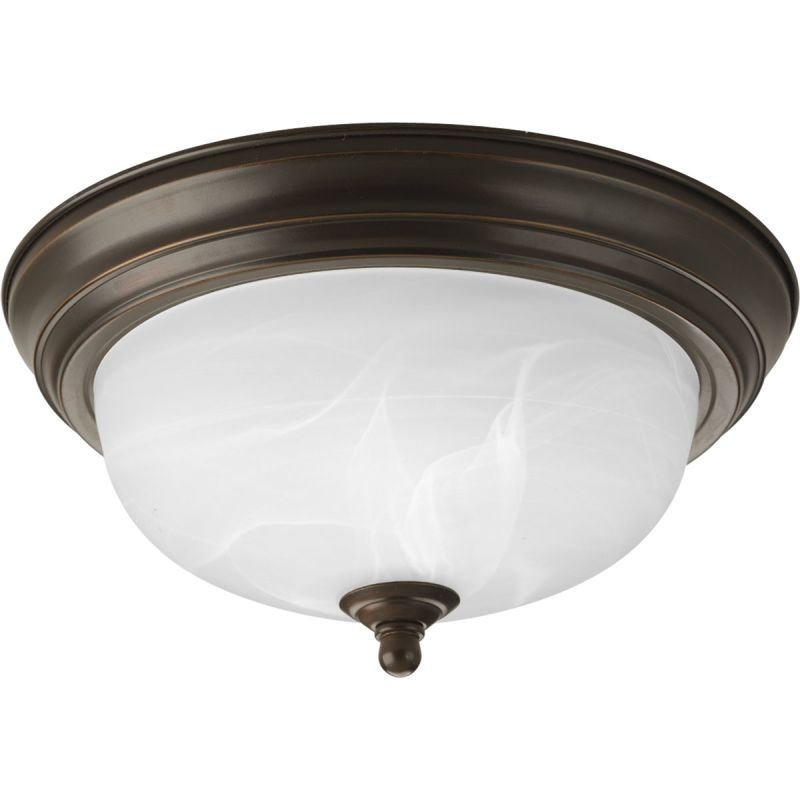 "Progress Lighting P3924-EB 11-3/8"" Single Light Flush Mount Ceiling"