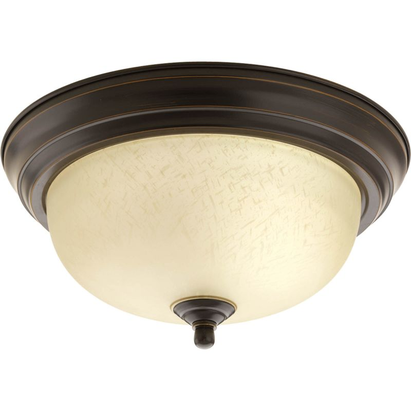 "Progress Lighting P3924-EUL 11-3/8"" Single Light Flush Mount Ceiling"
