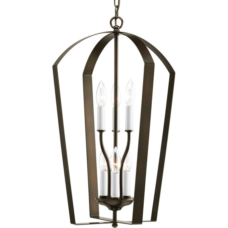"Progress Lighting P3929 Gather 6 Light Foyer Pendant - 15"" Wide"