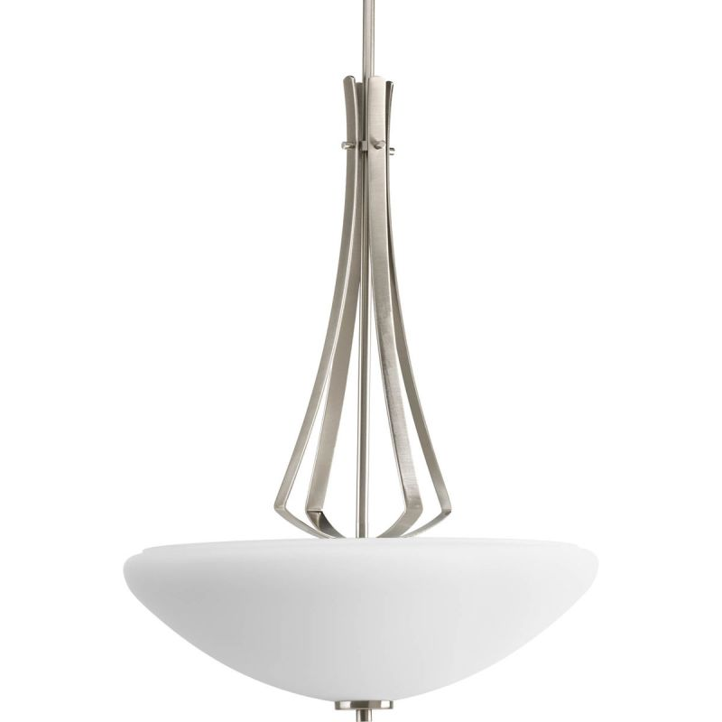 Progress Lighting P3944 Rave 3 Light Bowl Pendant with Etched Glass -