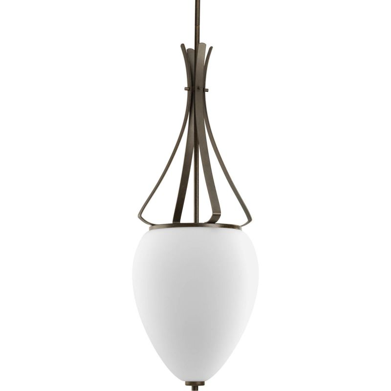 Progress Lighting P3945 Rave 2 Light Urn Pendant with Etched Glass -