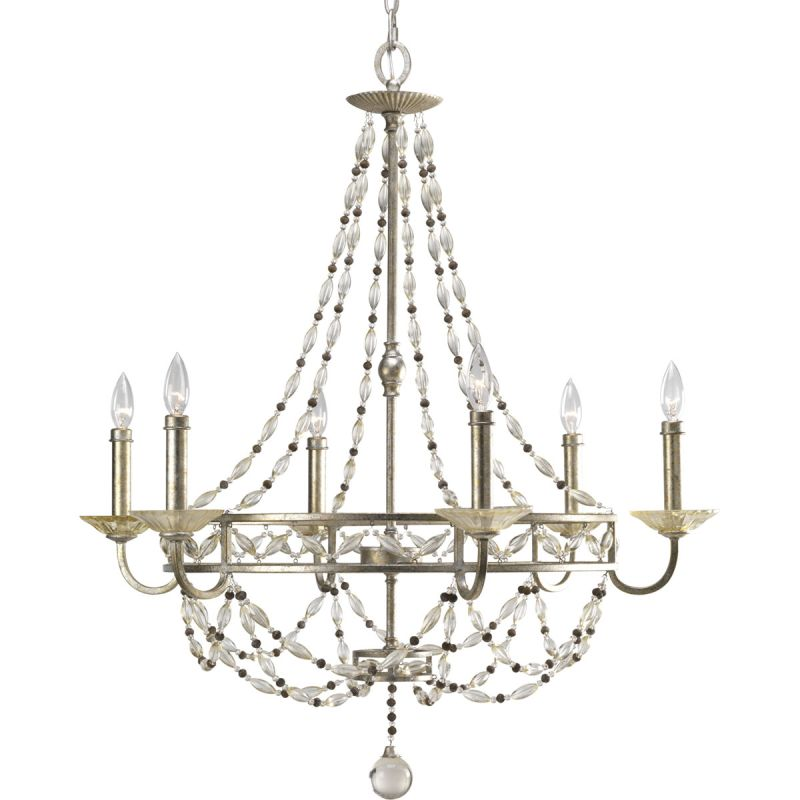 Progress Lighting P4443 34 Antique Silver Chanelle 6 Light
