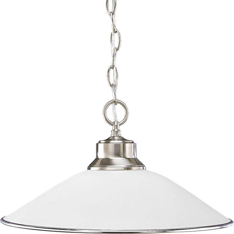 "Progress Lighting P5013 Glass Pendants 1 Light Cone Pendant - 17"" Wide"