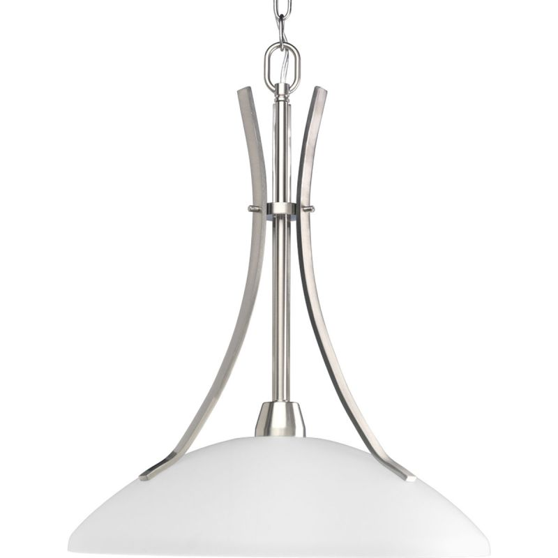 "Progress Lighting P5112 Wisten 1 Light 17"" Wide Brushed Nickel Indoor"