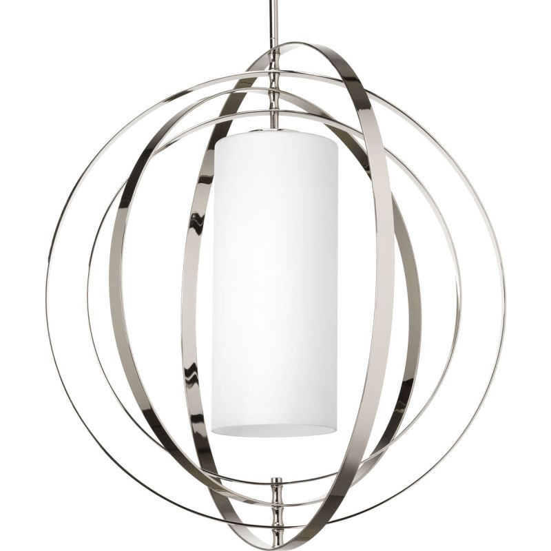 Progress Lighting P7086 Equinox 2 Light Cylinder Pendant with Etched