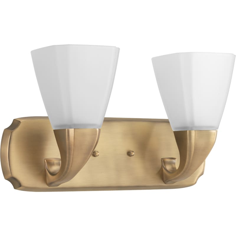 Progress lighting p2847 109 brushed bronze addison two - Brushed bronze bathroom light fixtures ...