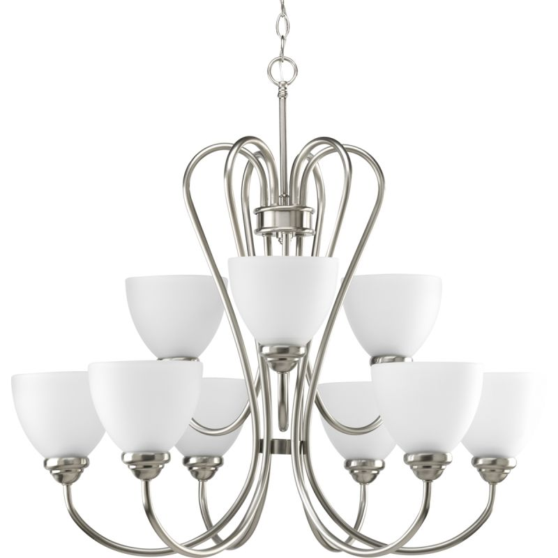 Progress Lighting P4668 Heart Nine-Light Two-Tier Chandelier with Sale $350.28 ITEM: bci1886315 ID#:P4668-09 UPC: 785247169078 :