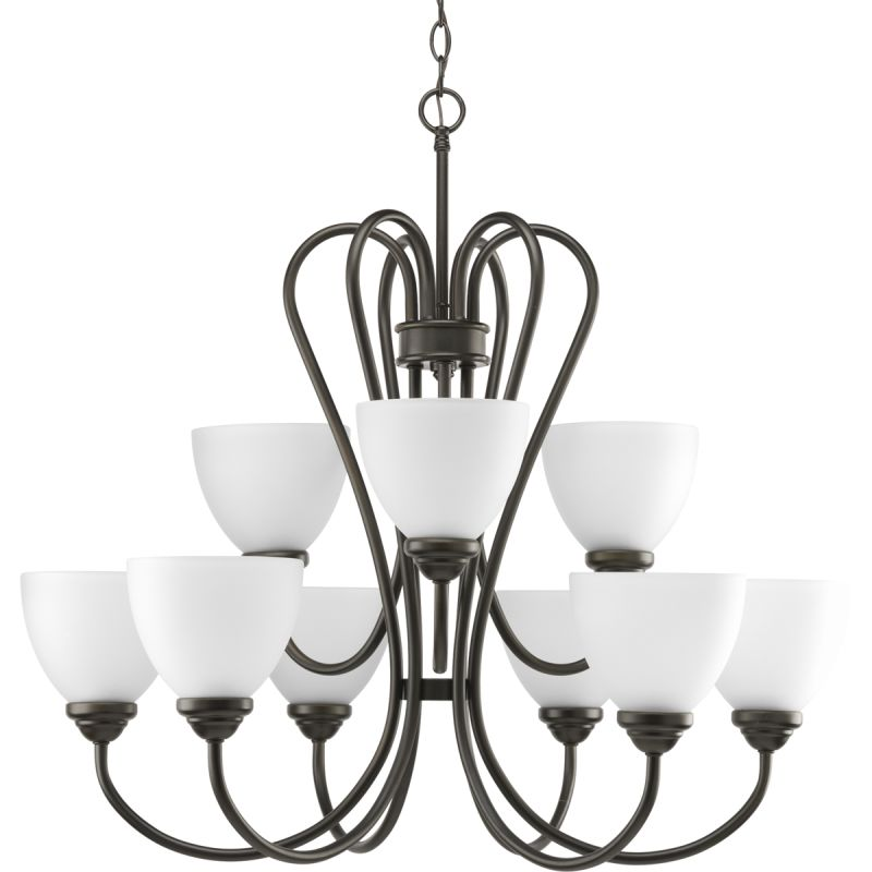 Progress Lighting P4668 Heart Nine-Light Two-Tier Chandelier with Sale $284.42 ITEM: bci1886316 ID#:P4668-20 UPC: 785247169085 :