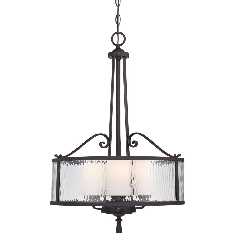 "Quoizel ADS2818 Adonis 3 Light 18"" Wide Drum Pendant with Clear Water"