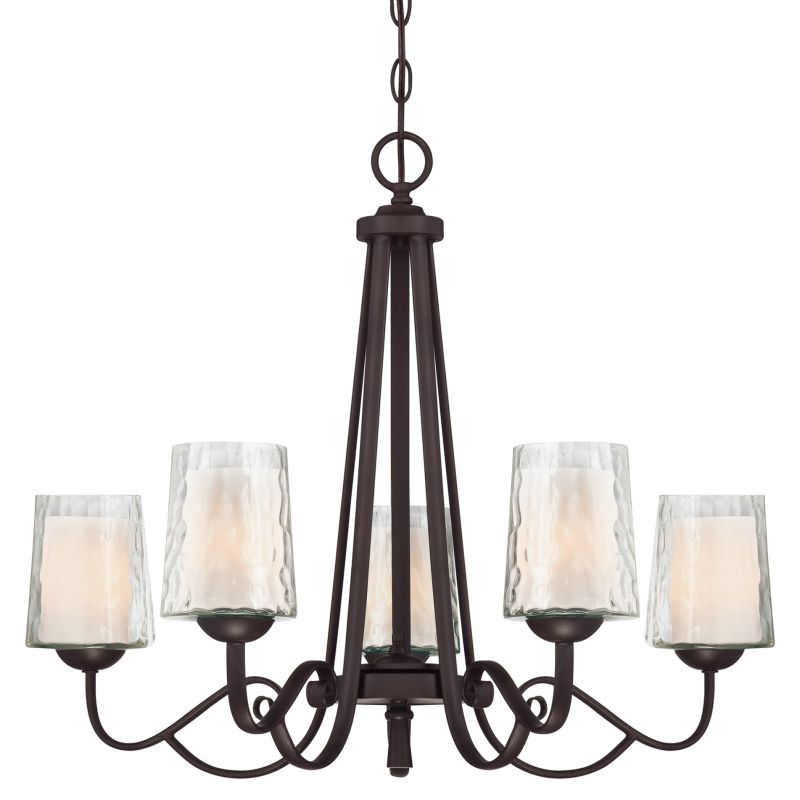 "Quoizel ADS5005 Adonis 5 Light 26"" Wide Chandelier with Opal Etched"