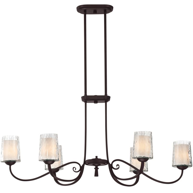 "Quoizel ADS639 Adonis 6 Light 39"" Linear Chandelier with Opal Etched"