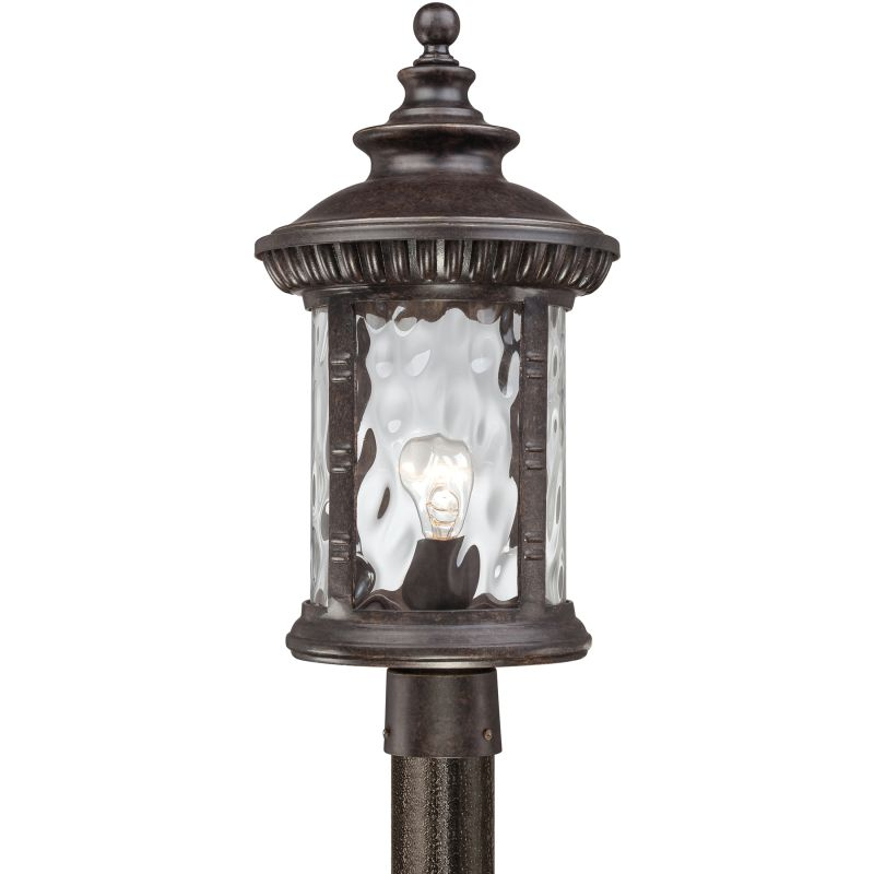 "Quoizel CHI9011 Chimera 1 Light 22"" Tall Post Lantern with Clear Water"