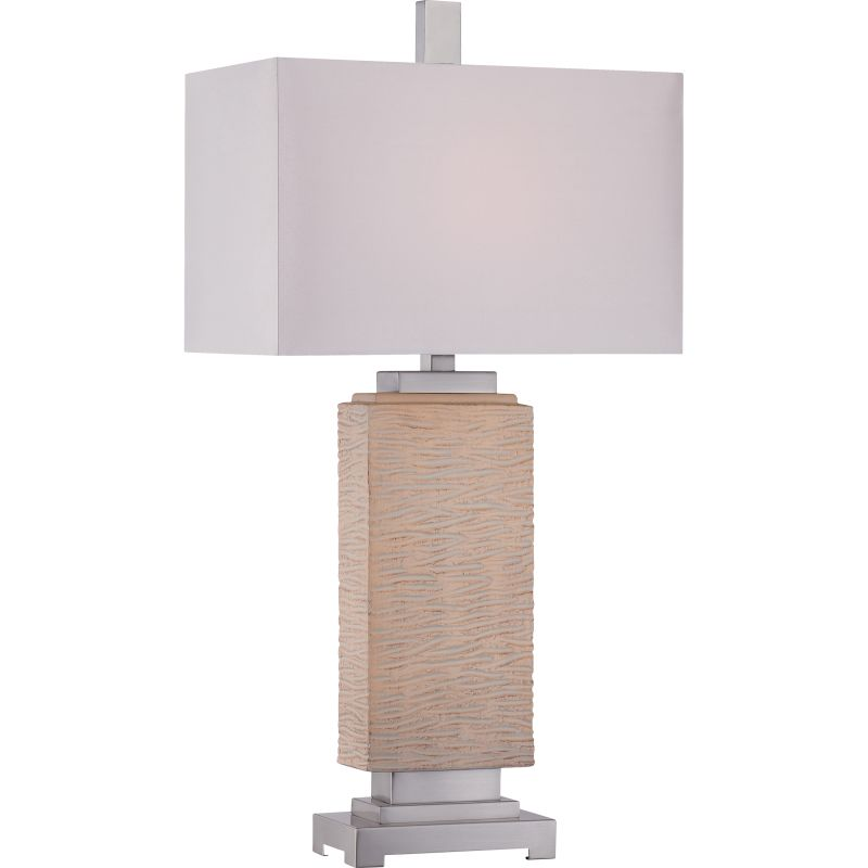 Quoizel CKBO1878T Boone 1 Light Table Lamp Brushed Nickel Lamps