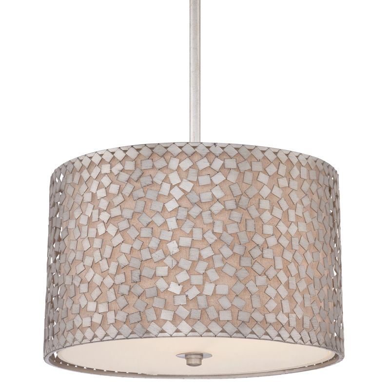 Quoizel CKCF2816 Confetti 3 Light Drum Pendant with Fabric Shade Old
