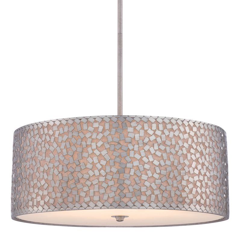 Quoizel CKCF2825 Confetti 5 Light Drum Pendant with Fabric Shade Old