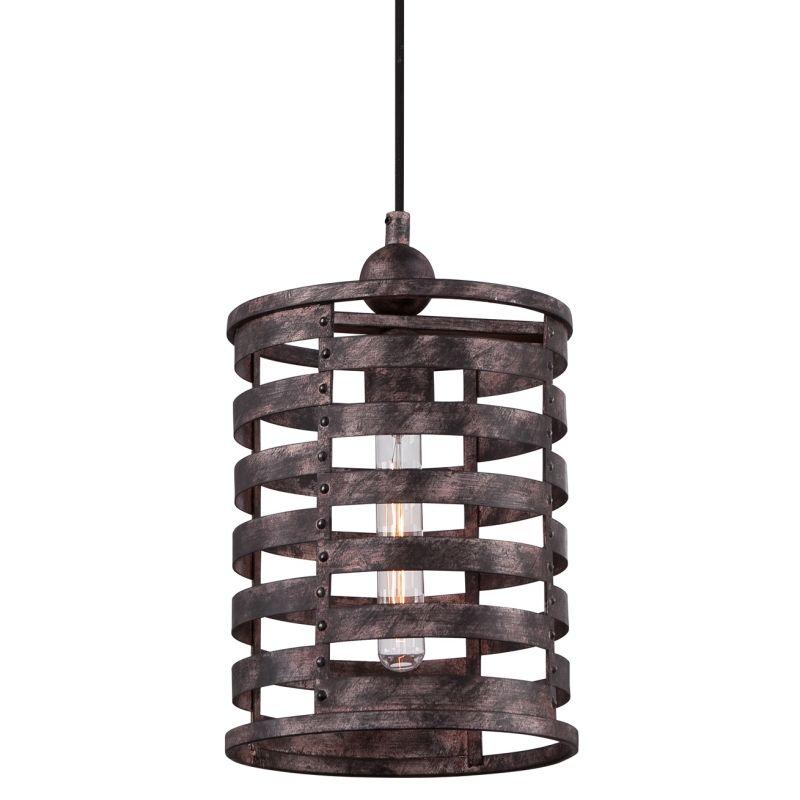 Quoizel CKNK1509 Nikos 1 Light Mini Pendant with Vintage Edison Bulb
