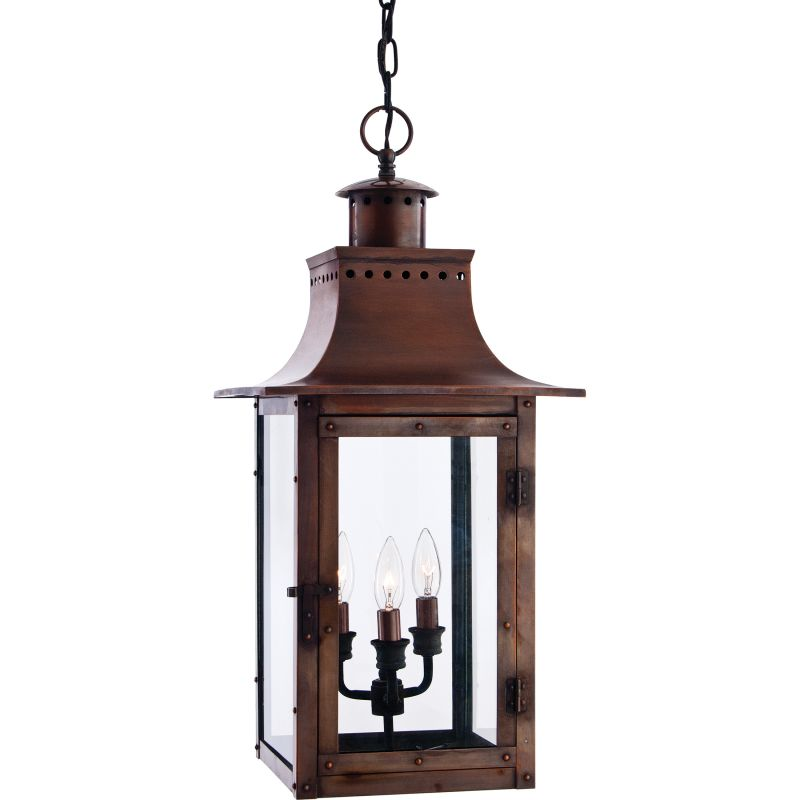 "Quoizel CM1912 Chalmers 3 Light 12"" Wide Outdoor Pendant Lantern with"