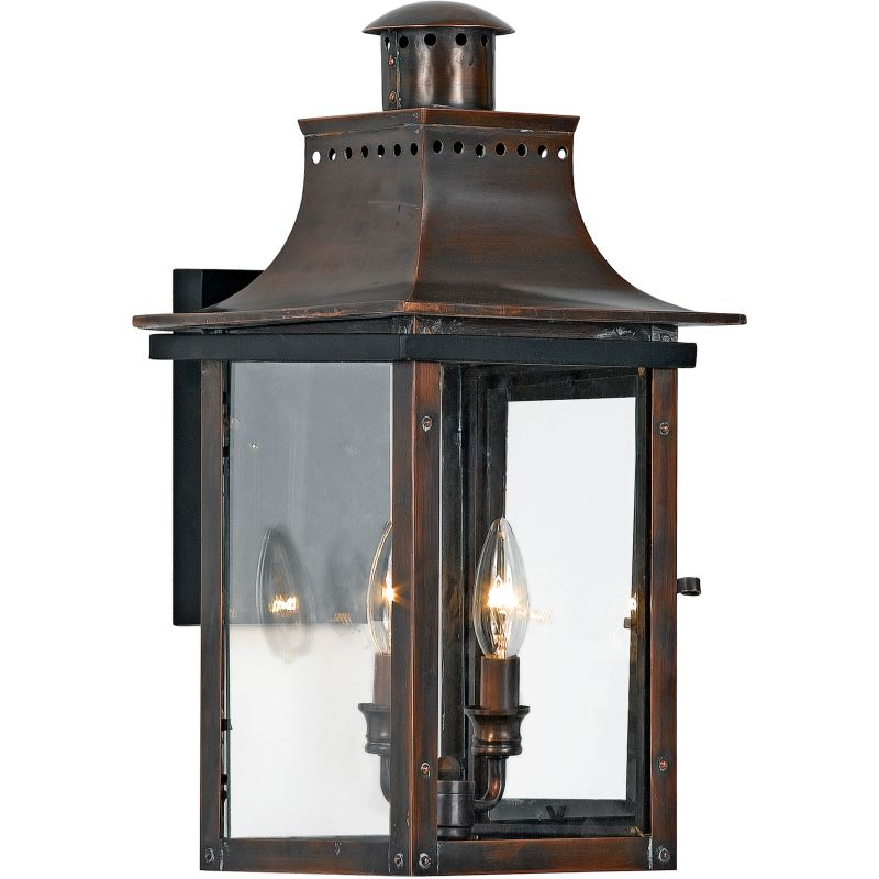 "Quoizel CM8410 Chalmers 2 Light 21"" Tall Outdoor Wall Sconce with Sale $539.99 ITEM: bci624210 ID#:CM8410AC UPC: 611728130261 :"