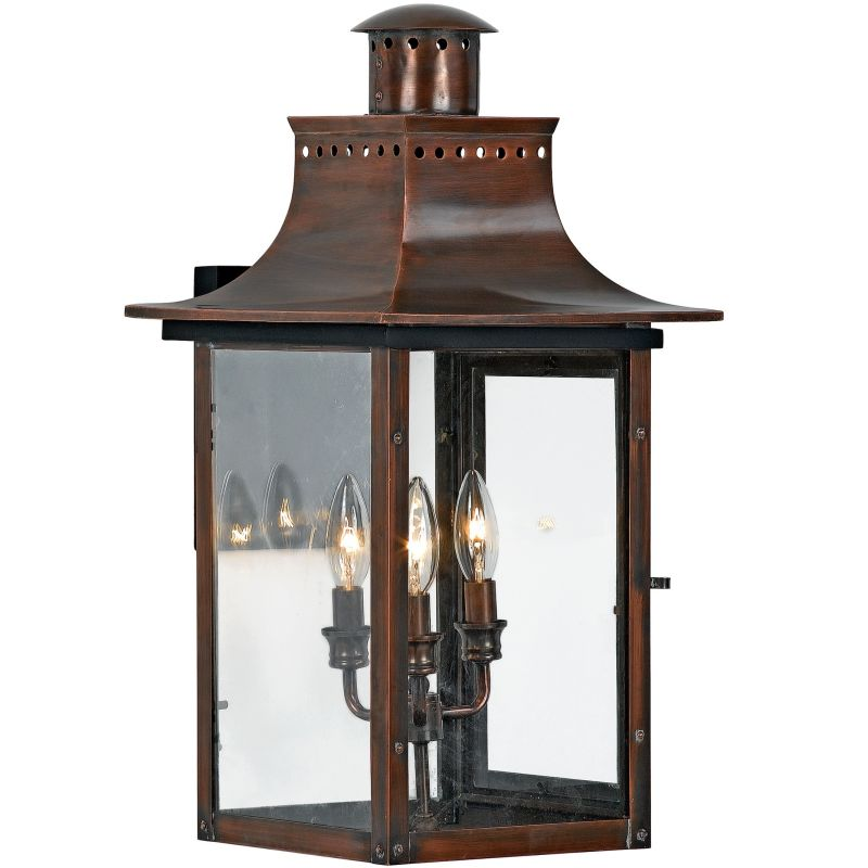 "Quoizel CM8412 Chalmers 3 Light 23"" Tall Outdoor Wall Sconce with"