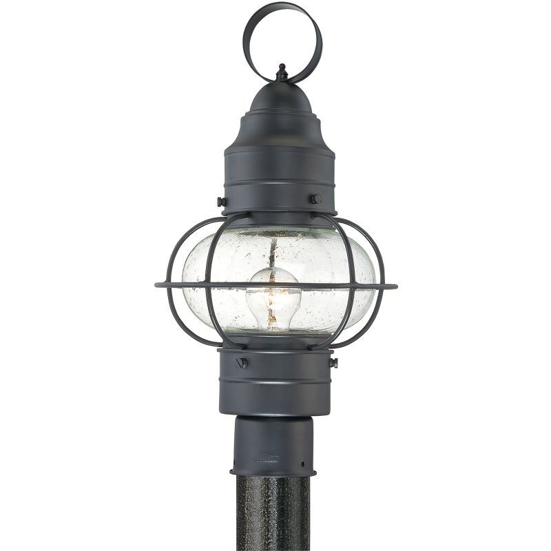 "Quoizel COR9010 Cooper 1 Light 18"" Tall Post Lantern with Seedy Glass"
