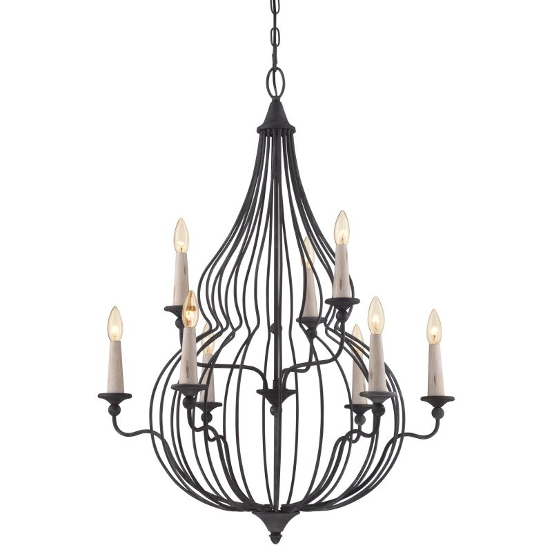 Quoizel CYN5009 Canyon 9 Light 2 Tier Chandelier Mottled Black Indoor Sale $300.00 ITEM: bci2620957 ID#:CYN5009MB UPC: 611728212561 :