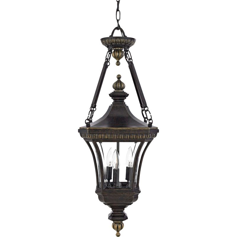 "Quoizel DE1490 Devon 3 Light 11"" Wide Outdoor Pendant Lantern with"