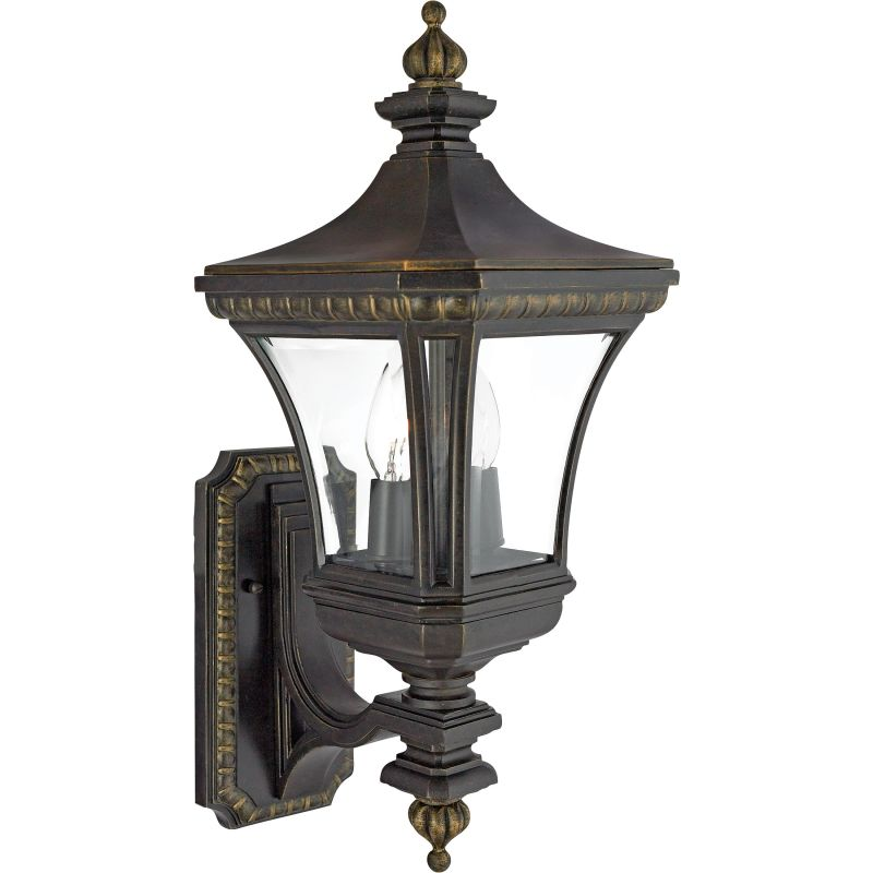 "Quoizel DE8959 Devon 2 Light 21"" Tall Outdoor Wall Sconce with Clear"